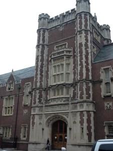 アイビーリーグの一つで、伝統あるペンシルバニア大学歯学部に着きました。